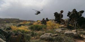 Siirt'te 5 PKK'lı teröristin etkisiz hale getirildiği operasyonun görüntüleri basınla paylaşıldı