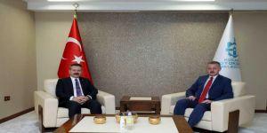 Vali Aksoy'dan Başkan Büyükakın'a veda ziyareti