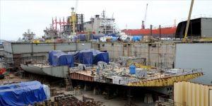 Türkiye'nin ilk uçak gemisini inşa eden Sedef Tersanesi çalışmalarında hız kesmedi