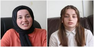 Gürcistan'da iki Müslüman genç kız kadınların başarısı için mücadele veriyor