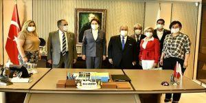İYİ Parti Genel Başkanı Akşener, KAMU-DER heyetini kabul etti