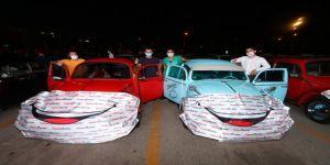 'Arabalı Açık Hava Sineması Günleri' etkinliğine 3 günde 350 araç, 1500 izleyici katıldı