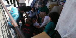 Gebze'de başı bebek arabasına sıkışan çocuğu itfaiye kurtardı