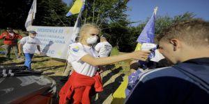 Ölüm yolunda 'Barış Yürüyüşü' Kovid-19 gölgesinde başladı