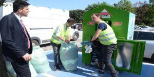 6 ayda 32 ton 455 kg tekstil atığı toplandı