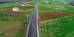 Köy içi ve köyler arasında 62 kilometre yol inşa edildi