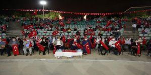 Amfi Tiyatro'da demokrasi nöbeti tutuldu