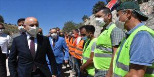 Ulaştırma ve Altyapı Bakanı Karaismailoğlu Muğla'da incelemelerde bulundu