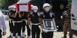 Siirt'te şehit düşen Özel Harekat polisi Kurtul son yolculuğuna uğurlandı