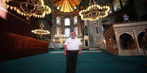 Almanya'daki Ayasofya Camisi'ni açan gurbetçinin Ayasofya-i Kebir Cami-i Şerifi mutluluğu