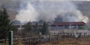 Gebze'de hırsızlar yangın çıkardı