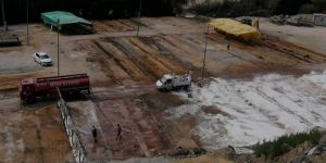 Kurban pazarı alanı kireçlendi ve dezenfekte edildi
