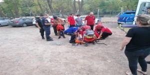 Bir Kadın,Gebze Ballıkaya'da Kayalardan Düştü
