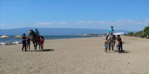 Jandarmanın atları Bursa sahillerinde göreve başladı