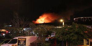 Gebze'de Palet Fabrikasında Yangın !
