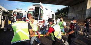 Kuzey Marmara Otoyolu'da otobüs kazası:Beş ölü