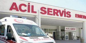 Kocaeli'de bulunan AVM'de bir işçi iskeleden düştü