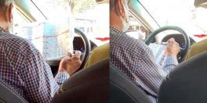 Araçtaki yolcuları hiçe sayan taksicinin yaptığı şaşırtt