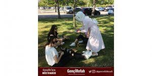 Yeniden refah partisi Kocaeli il kadın gençlik kolları yönetimi sahaya indi.