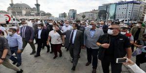 İmamoğlu, Taksim Meydanı ve Gezi Parkı'nda incelemelerde bulundu