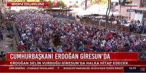Erdoğan'ın Giresun Konuşması Sosyal Medyanın Gündeminde