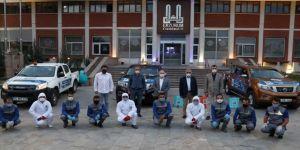 Erzurum'da 'ilaçlama ve dezenfeksiyon timleri' Kovid-19'a karşı iş başında