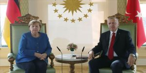 Cumhurbaşkanı Erdoğan ile Almanya Başbakanı Merkel video konferansla görüştü