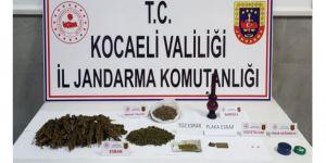 Kocaeli'de ormanlık alanda kenevir hasadı yaparken yakalandı