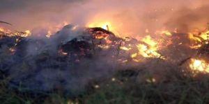 Çalılık alanda çıkan yangın büyüdü ! Çocuklar korkup kaçtı