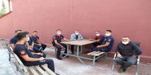 Başkan Şayir'den itfaiye personeline ziyaret
