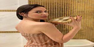Şarkıcı Aynur Aydın hamam pozlarını paylaştı!