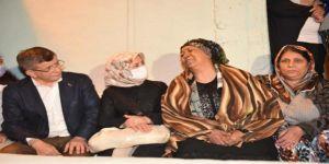 Davutoğlu çifti,eşi tarafından boğularak öldürülen Gül Gülüm'ün ailesini ziyaret etti