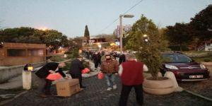 Yeniden Refah Partisi Gebze işçilere simit dağıttı