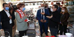İYİ Parti Genel Başkanı Akşener Bolu'da esnafı ziyaret etti