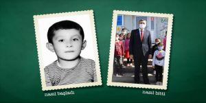 Milli Eğitim Bakanı Selçuk, 'Nasıl başladı, nasıl bitti' akımına ilkokul fotoğrafıyla katıldı