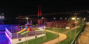 Osmangazi Köprüsü manzaralı sahil parkı tamamlandı