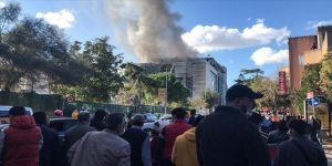 İstanbul Tıp Fakültesi içindeki inşaatta yangın