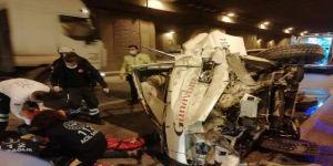 Kocaeli'de tünel içinde beton duvara çarpan sürücü ağır yaralandı