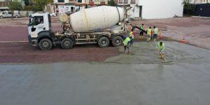 Otoparkta beton serimine başlanıldı