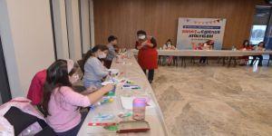 Sanat ve Eğlence atölyelerinde çocuklar doyasıya eğlendi