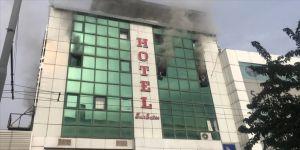 Şanlıurfa'da otel yangını