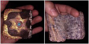 Muğla'da ceylan derisi üzerine yazılmış altın işlemeli Tevrat ele geçirildi