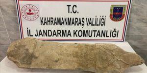 Kahramanmaraş'ta Roma dönemine ait mezar steli ele geçirildi