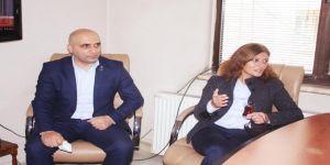 Serap Çakır ve Abdulkadir Şeker Basın Ziyaretinde