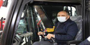 Belediye, araç filosuna 5 yeni iş makinesini daha ekledi