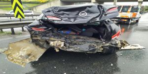 Boş yolda zincirleme kaza: 2 yaralı