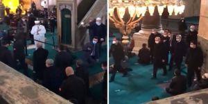 Erdoğan'ın Ayasofya'ya girişinde Tekbirler yükseldi, imamın uyarısı dikkate alınmadı
