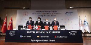 SGK ile 3 banka arasında emekli olabilecek sigortalılara yönelik 'kredi iş birliği protokolü' imzalandı