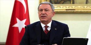 Bakan Akar Libya Milli Mutabakat Hükümeti Savunma Bakanı Nemruş ile bir araya geldi