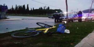 Gebze'de otomobil ile bisiklet kaza yaptı